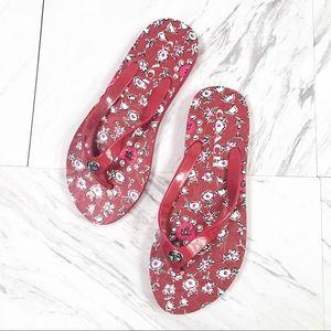 Coach   Women's Abbigail Floral Rubber Flip Flops